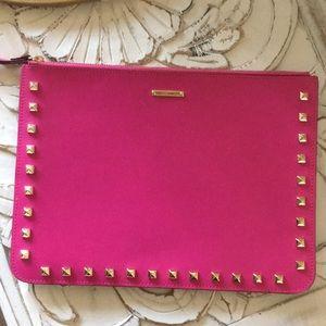 Rebecca Minkoff 2Tone Leather Stud Wristlet Clutch